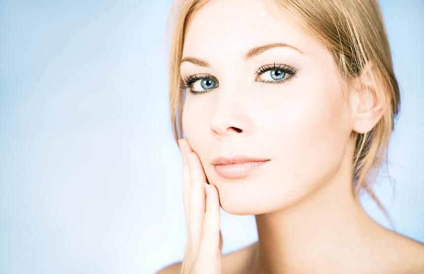 Young beautiful caucasian blond woman