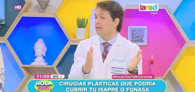 """, Dr. Torres en matinal """"Hola Chile"""" habla sobre las cirugías cubiertas por Fonasa e isapres."""