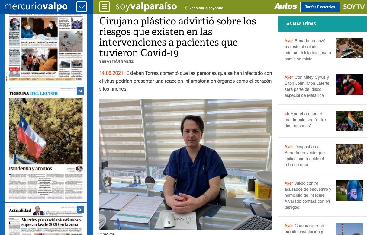 Doctor Esteban Torres y riesgos de cirugía estética, Dr. Esteban Torres