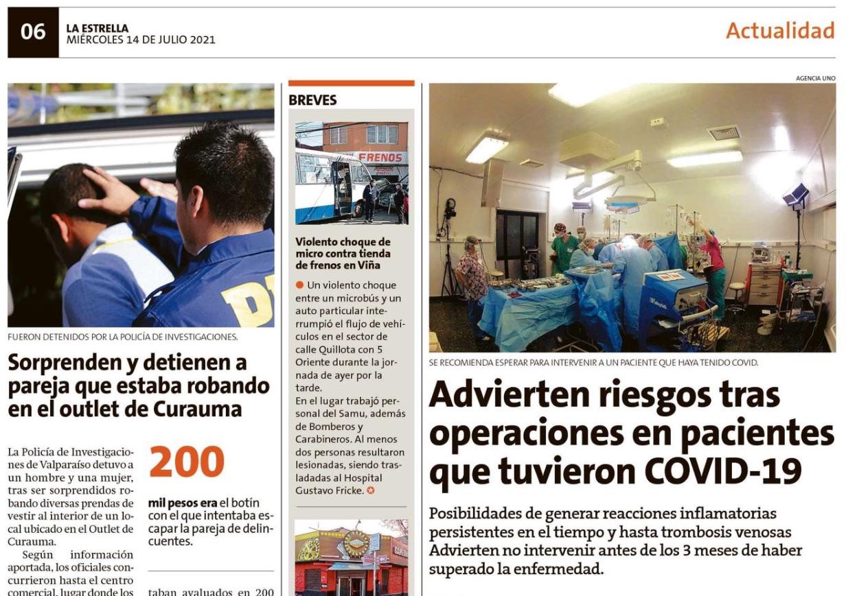 Riesgos tras operaciones en pacientes que tuvieron COVID-19, Dr. Esteban Torres